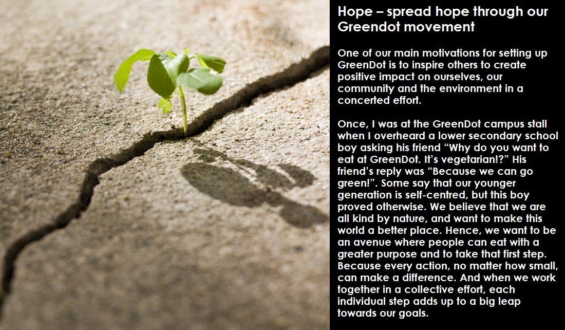 spread hope through your greendot movement