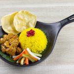 greendot Turmeric rice with rendang lion mane mushroom