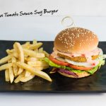 Andalusian Tomato Sauce Soy Burger